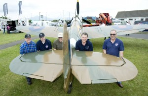 Members of Ulster Aviation Society with their replica Spitfire