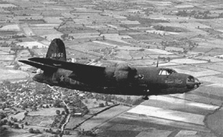 The B26 which crashed on Chimney Rock