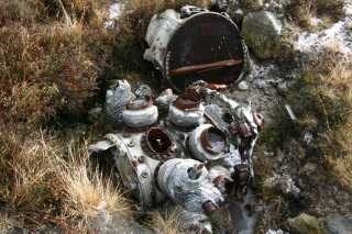 Remains of the engine
