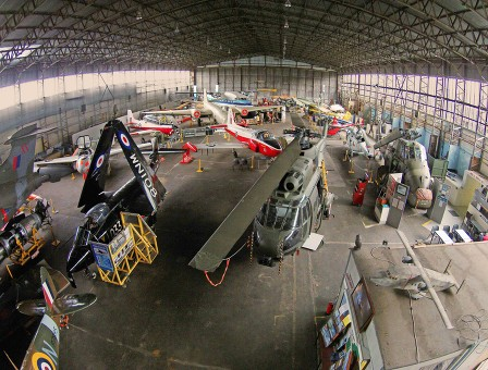 The impressive collection in the Ulster Aviation Society's hangar