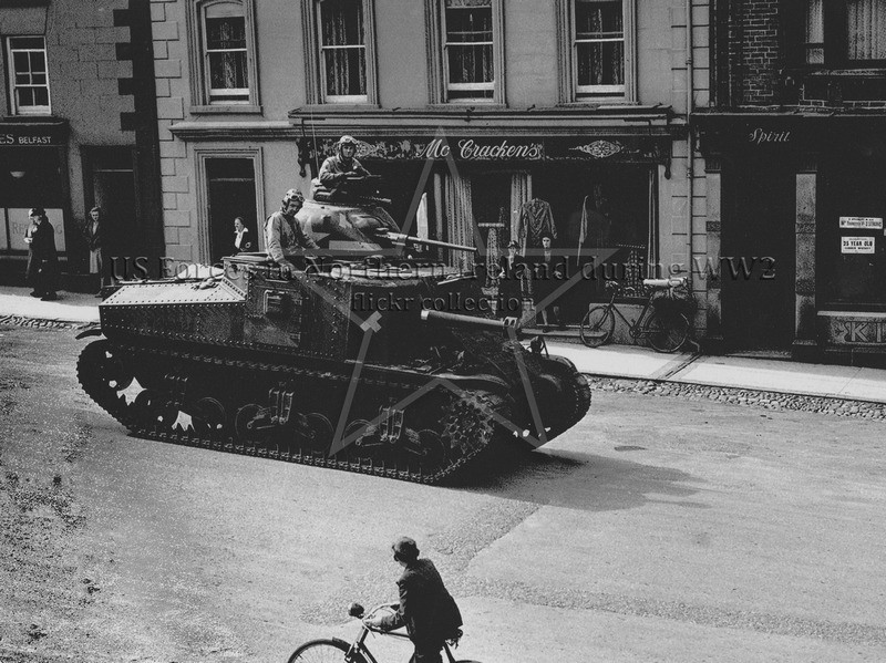 M3 Lee Tank in Castlewellan, 1942. Image from G.I. N.I. Flickr Account https://www.flickr.com/photos/111021196@N07/23216089694