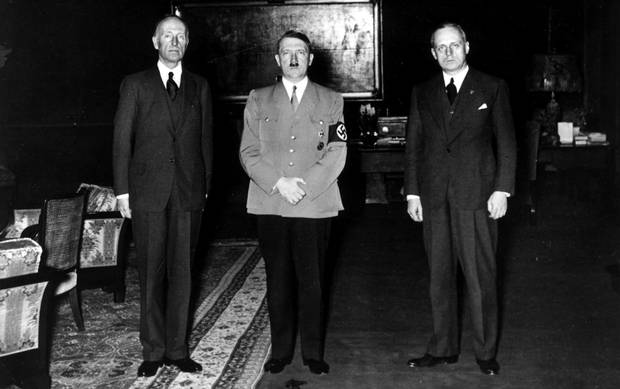 Lord Londonderry with Hitler and Von in Berline