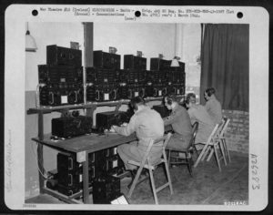 Control Room at Toome, photo taken 21 September 1944